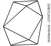 vector geometric form. isolated ...   Shutterstock .eps vector #1154711842