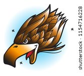 head of an eagle with an open...   Shutterstock .eps vector #1154716228