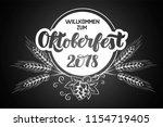 munich beer festival... | Shutterstock .eps vector #1154719405