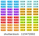 set of color web buttons | Shutterstock .eps vector #115472002