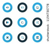 multimedia icons colored set... | Shutterstock .eps vector #1154730778