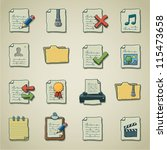 freehand icons   documents and... | Shutterstock .eps vector #115473658