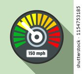 colorful speedometer icon. flat ...