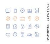 financial item set  bank... | Shutterstock .eps vector #1154754718