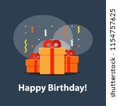 happy birthday celebration ...   Shutterstock .eps vector #1154757625