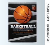 basketball tournament posters ... | Shutterstock .eps vector #1154758492