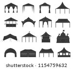 different tents set for  trade...   Shutterstock .eps vector #1154759632