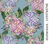 seamless pattern flowers... | Shutterstock . vector #1154760748