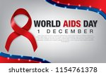 aids awareness red ribbon.... | Shutterstock .eps vector #1154761378