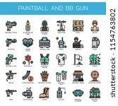 paintball and bb gun   thin... | Shutterstock .eps vector #1154763802