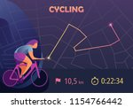 sports app for cyclist. mobile... | Shutterstock .eps vector #1154766442