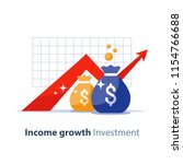 future income growth graph ... | Shutterstock .eps vector #1154766688