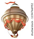 balloon retro blimp ship with... | Shutterstock .eps vector #1154766952