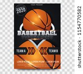basketball poster with... | Shutterstock .eps vector #1154770582