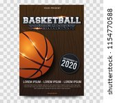 basketball poster with... | Shutterstock .eps vector #1154770588