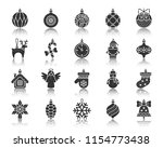 xmas tree decorations... | Shutterstock .eps vector #1154773438