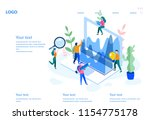 data analysis  website... | Shutterstock .eps vector #1154775178