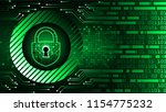 safety concept  closed padlock... | Shutterstock .eps vector #1154775232