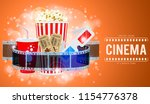 cinema and movie time banner... | Shutterstock .eps vector #1154776378