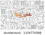 hand drawn real estate set... | Shutterstock .eps vector #1154776588