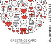 circle with love symbols in... | Shutterstock .eps vector #1154781568