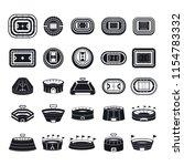 arena stadium sport scene icons ... | Shutterstock . vector #1154783332