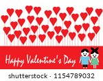 happy valentine's day greeting...   Shutterstock .eps vector #1154789032