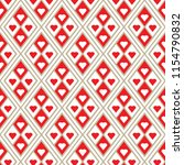 pattern with red hearts for...   Shutterstock .eps vector #1154790832