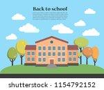vector illustration of school...   Shutterstock .eps vector #1154792152