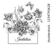 wedding invitations card... | Shutterstock .eps vector #1154793628