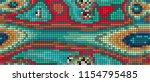 abstract mosaic pattern formed... | Shutterstock .eps vector #1154795485