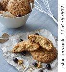 homemade russian oat cookies... | Shutterstock . vector #1154797942