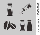 flavor vector icons set. with... | Shutterstock .eps vector #1154805202