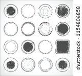 grunge round paper stickers...   Shutterstock .eps vector #1154806858