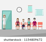 patients is waiting for the... | Shutterstock .eps vector #1154809672