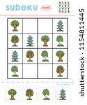 sudoku for children  education... | Shutterstock .eps vector #1154811445