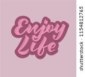 vector illustration of enjoy... | Shutterstock .eps vector #1154812765