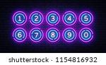 lottery balls neon signs vector.... | Shutterstock .eps vector #1154816932