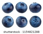 blueberry berries isolated on... | Shutterstock . vector #1154821288