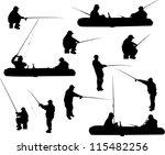 illustration with fishermen... | Shutterstock .eps vector #115482256