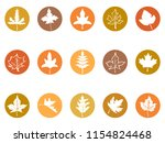 maple leaves button icons  | Shutterstock .eps vector #1154824468