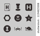plate vector icons set. with... | Shutterstock .eps vector #1154825308