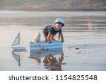 cute baby child  sweet boy ...   Shutterstock . vector #1154825548