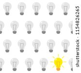 the gray bulbs are lined up and ... | Shutterstock .eps vector #1154826265