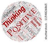 vector conceptual positive... | Shutterstock .eps vector #1154826865