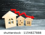 a decline in property prices.... | Shutterstock . vector #1154827888