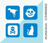 scary icon. 4 scary set with... | Shutterstock .eps vector #1154840602