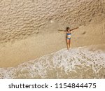 top view of a beautiful woman... | Shutterstock . vector #1154844475