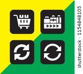 4 goods icons in vector set.... | Shutterstock .eps vector #1154848105