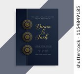 luxury wedding invitation card... | Shutterstock .eps vector #1154849185